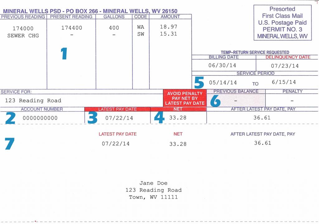 Bill Payment | Mineral Wells PSD